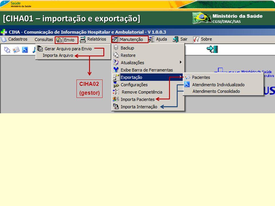 [CIHA01 – importação e exportação]